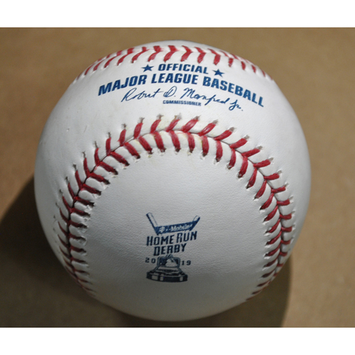 Game-Used Baseball - 2019 Home Run Derby (7/8/19) - Vladimir Guerrero Jr. - Final Round, Out