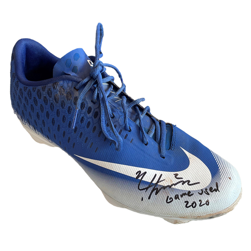 Photo of Nico Hoerner Team-Issued Cleat -- Autographed and Inscribed 'Game used 2020' -- Size 11