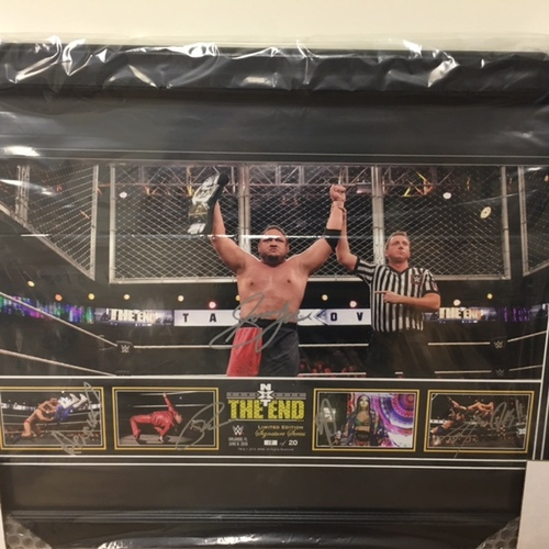 NXT TakeOver: The End SIGNED Photograph Frame (Limited Edition of 20)