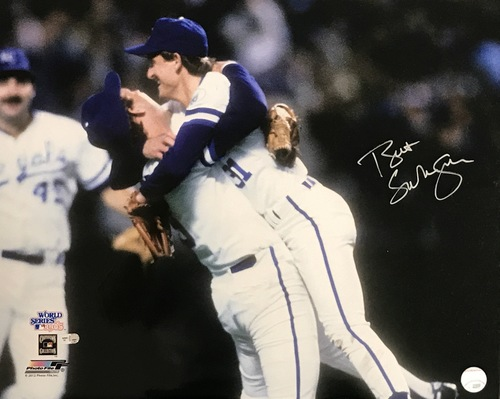 Photo of Bret Saberhagen Autographed 16x20 Photo (Celebration #2)