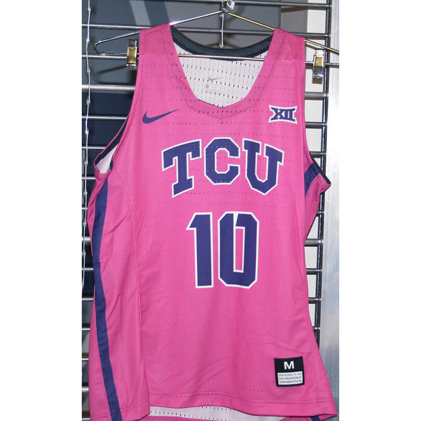 Photo of Women's Basketball Pink Game Worn Nike® Jersey #10 (M)