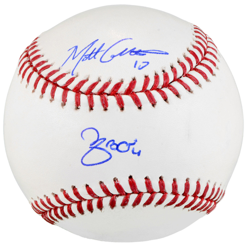 Photo of Matt Carpenter and Yadier Molina St. Louis Cardinals Autographed Baseball