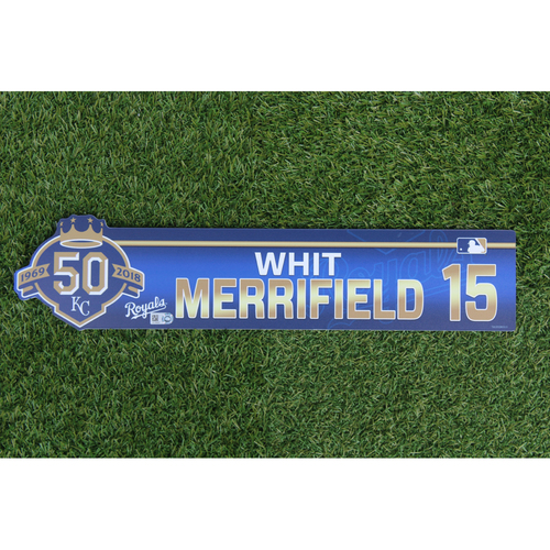 Photo of Game-Used Locker Nameplate: Whit Merrifield