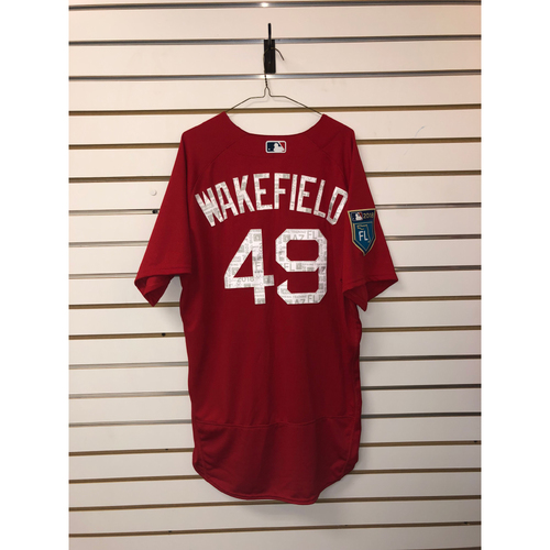 Photo of Tim Wakefield Team-Issued 2018 Spring Training Jersey