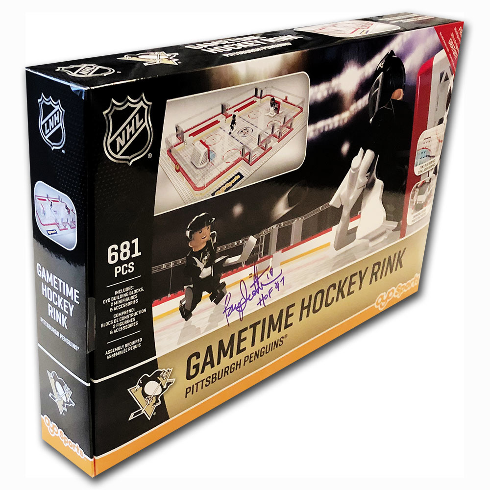 Bryan Trottier Autographed Pittsburgh Penguins OYO Gametime Hockey Rink