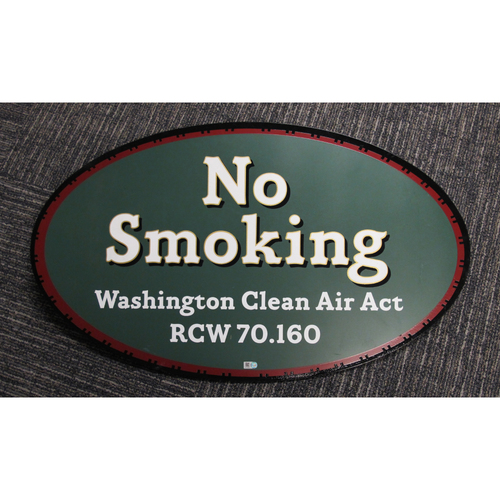"Photo of ""No Smoking, Washington Clean Air Act"" - Approximately 21""X24"""