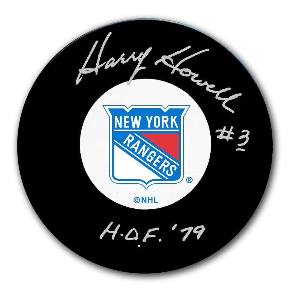 Harry Howell New York Rangers HOF Autographed Puck