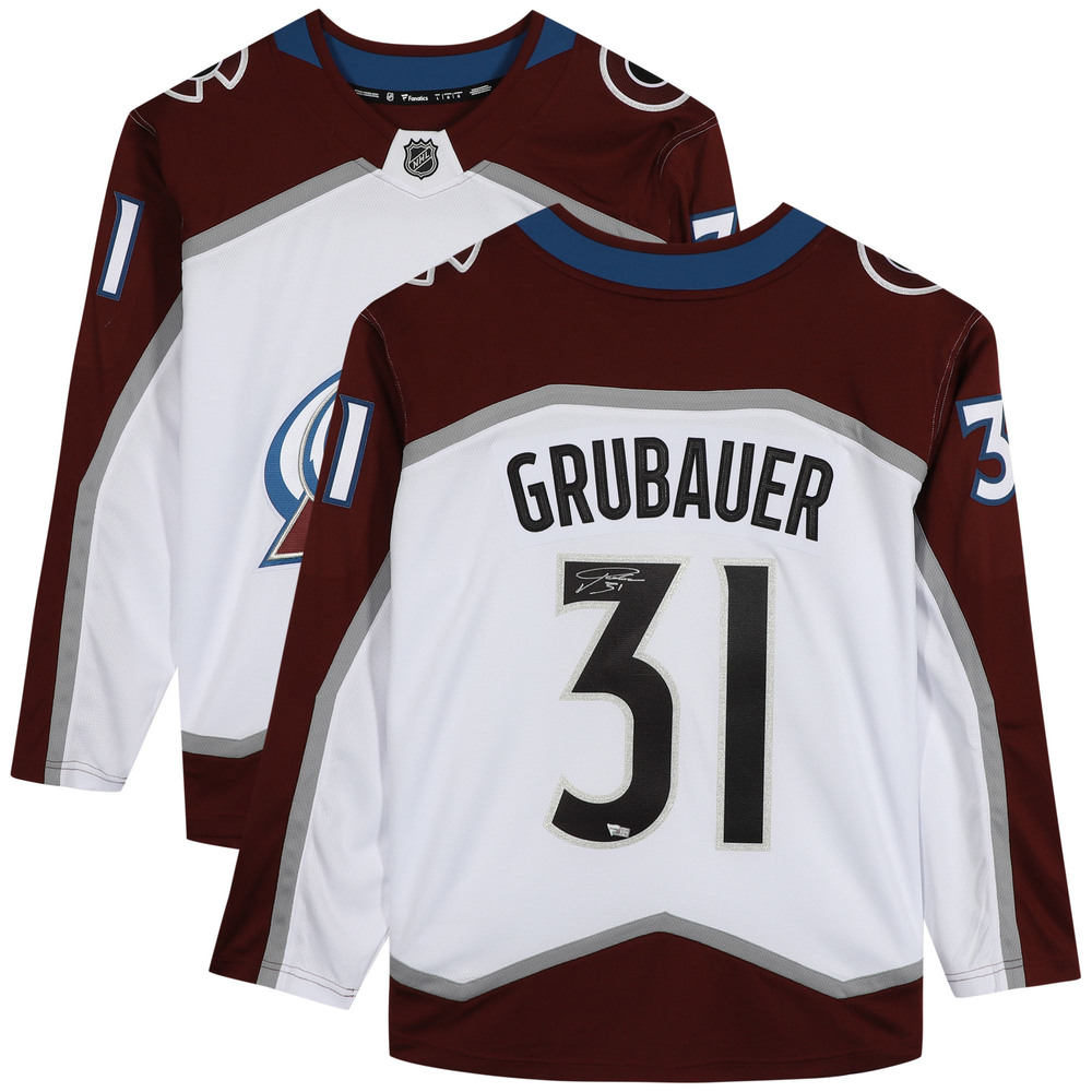 Philipp Grubauer Colorado Avalanche Autographed White Fanatics Breakaway Jersey - NHL Auctions Exclusive