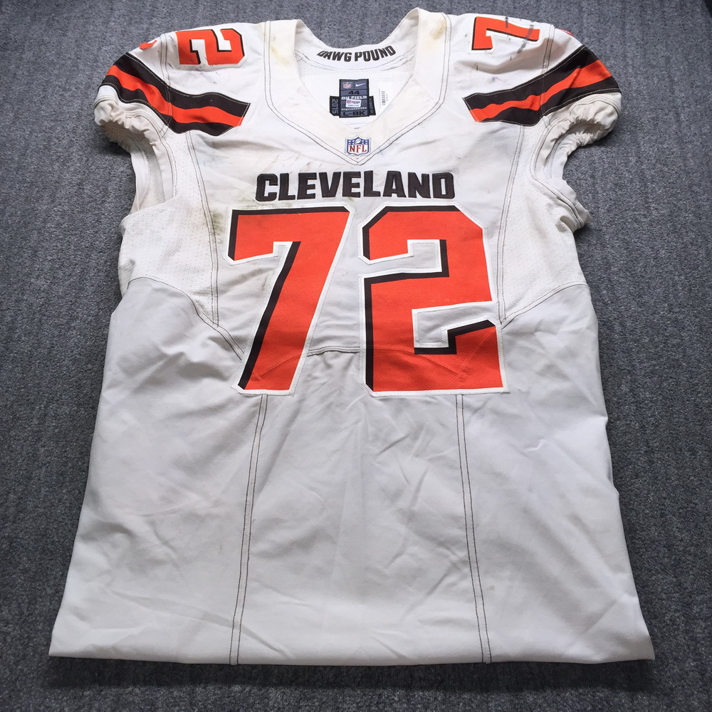 London Games - Browns Shon Coleman Game Used Jersey (10/29/17) Size 40