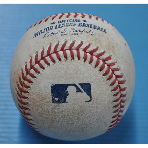 Photo of Game-Used Baseball - 9/2/2020 - CHI @ PIT - Pitcher - Joe Musgrove, Batter - Wilson Contreras, Top 4, Single