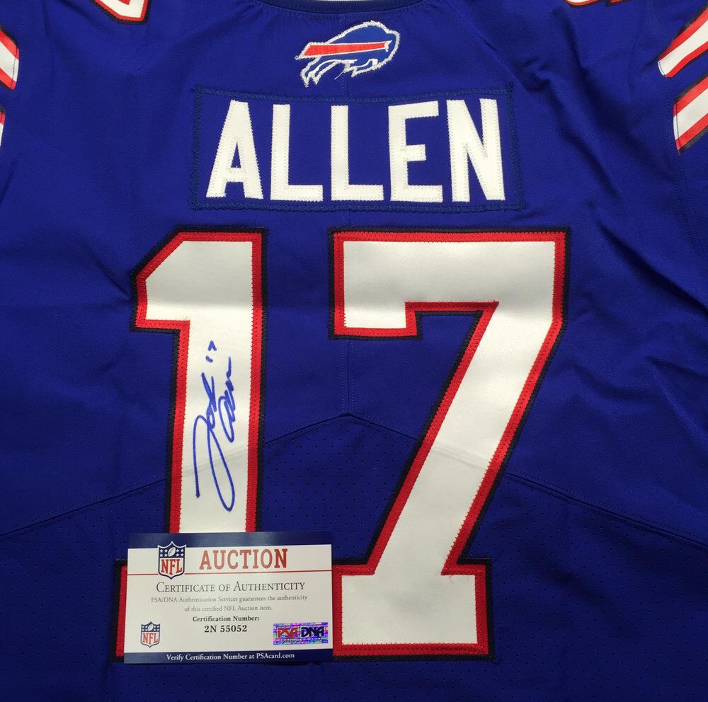 NFL Auction   NFL - Bills Josh Allen Signed Jersey Signed 44