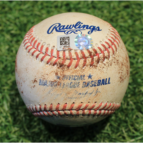 Photo of Game-Used Baseball: Brad Miller 116th Career Double & 318th Career RBI (STL @ KC 9/22/20)