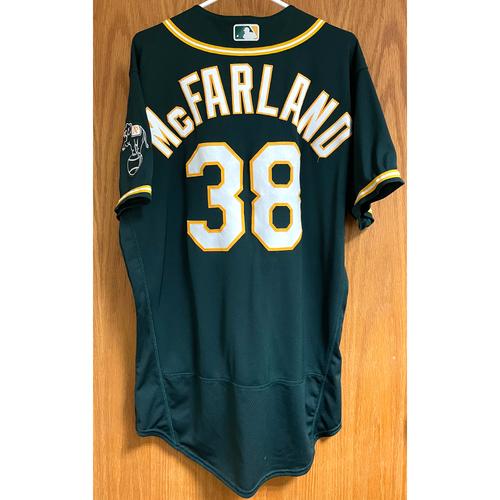 Photo of T.J. McFarland Game-Used 2020 Regular & Postseason Jersey