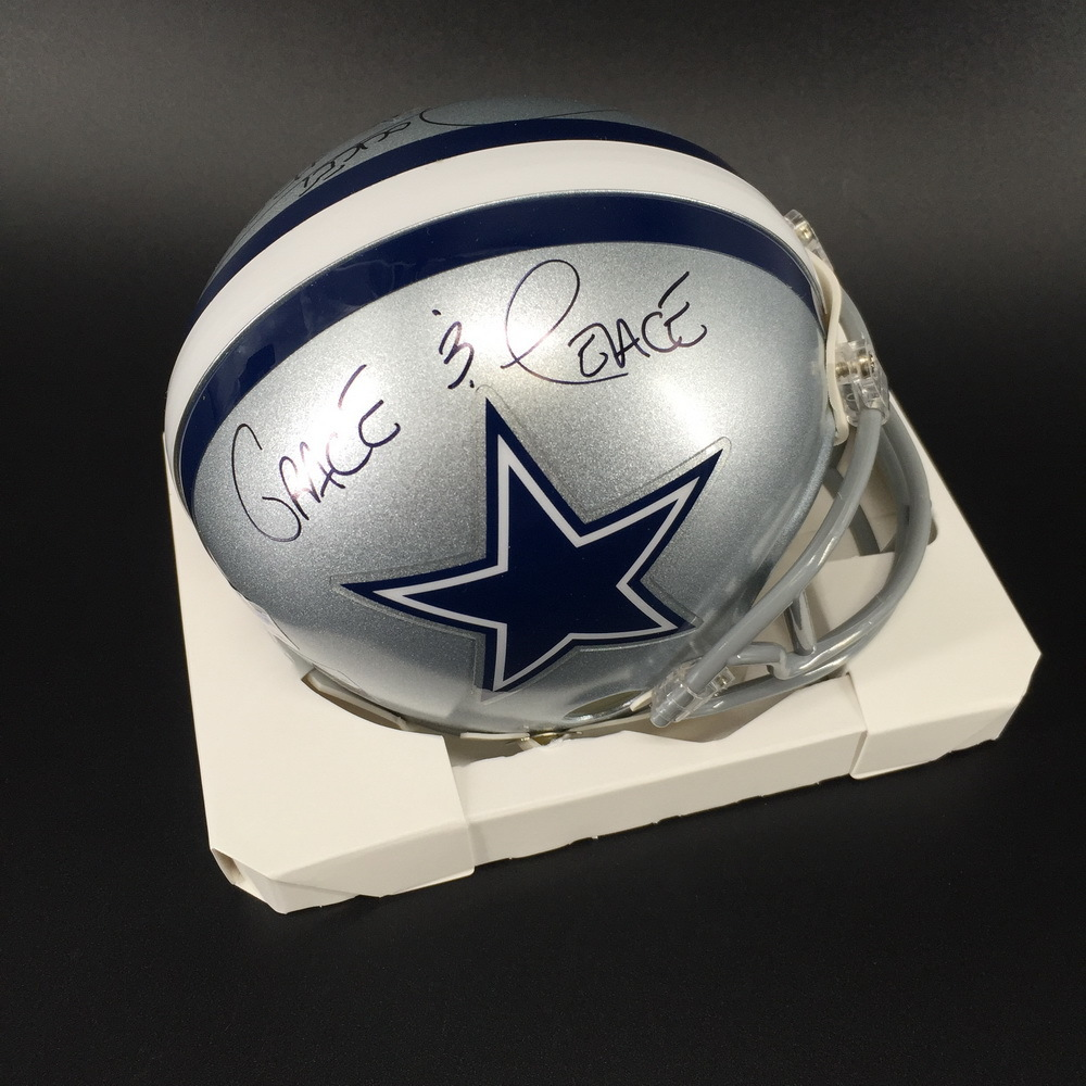 Legends - Cowboys Rocket Ismail Signed Mini Helmet