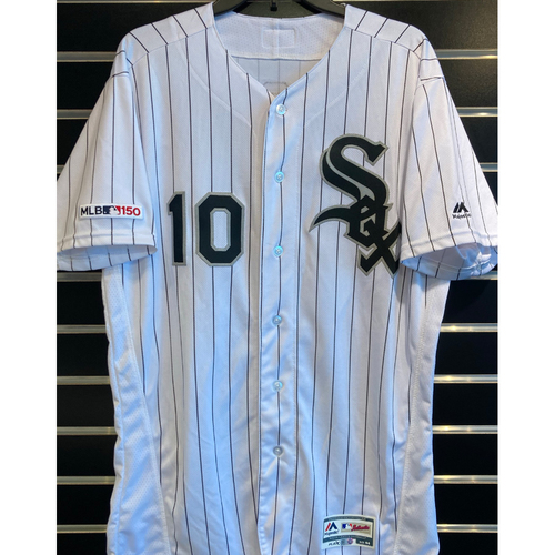 Photo of Yoan Moncada 2019 Game-Used White Pinstripe Jersey - Size 44