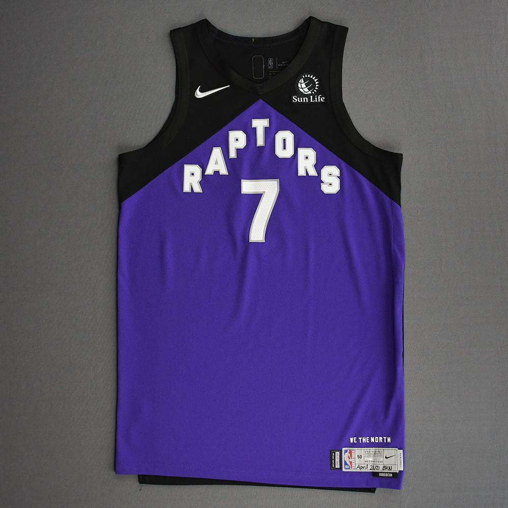 Kyle Lowry - Toronto Raptors - Game-Worn Earned Edition Jersey - 2020-21 NBA Season