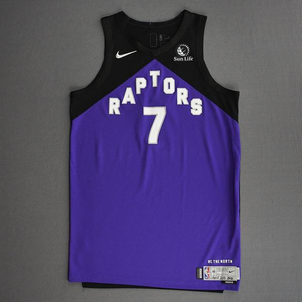 Image of Kyle Lowry - Toronto Raptors - Game-Worn Earned Edition Jersey - 2020-21 NBA Season