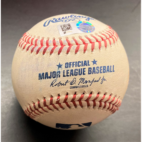Photo of Game-Used Baseball:  Jeimer Candelario Detroit Tigers Double off Gerrit Cole (MLB AUTHENTICATED)