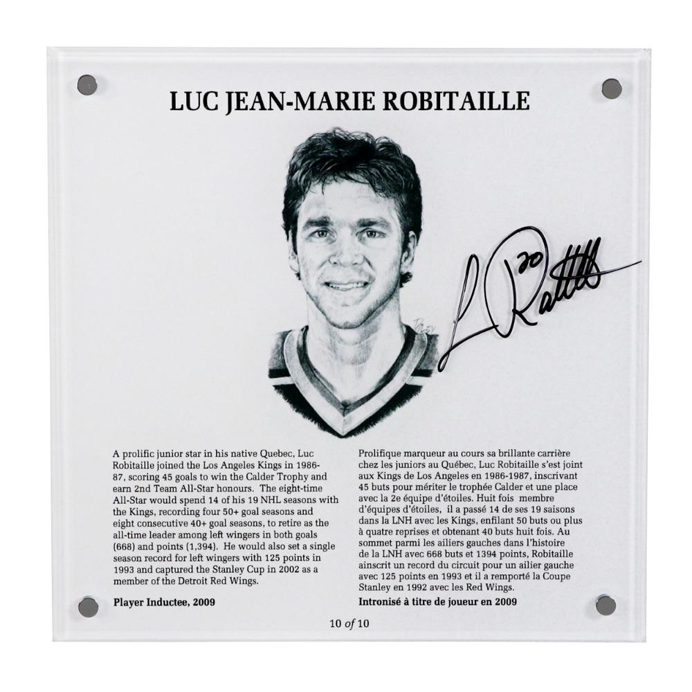 Luc Robitaille Autographed Legends Line Honoured Member Plaque - Limited Edition 3/10