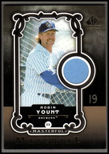 Photo of 2007 SP Legendary Cuts Masterful Materials #RY Robin Yount