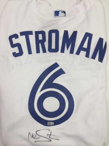 c324fa14c7a Marcus Stroman Autographed Replica Blue Jays Jersey