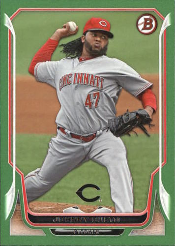 Photo of 2014 Bowman Green #22 Johnny Cueto