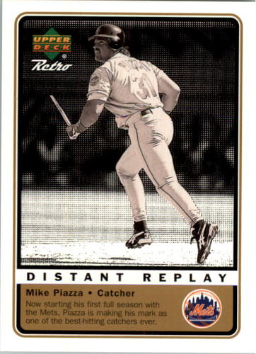 Photo of 1999 Upper Deck Retro Distant Replay Level 2 #D9 Mike Piazza