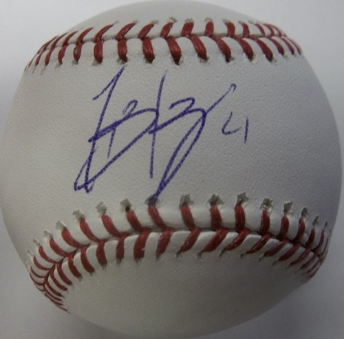 Photo of Todd Frazier Autographed Baseball