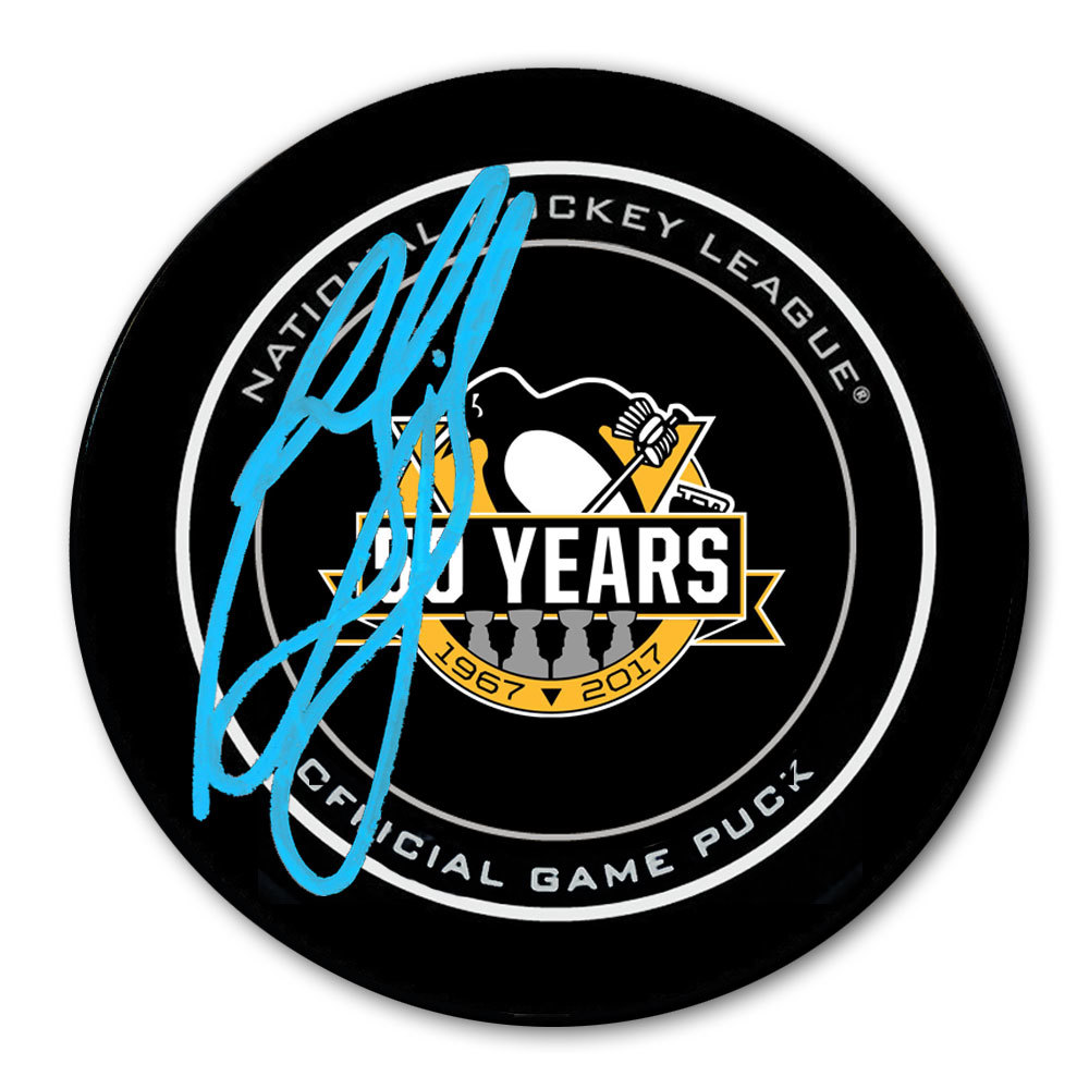 Ron Francis Pittsburgh Penguins 50th Anniversary Autographed Official Game Puck