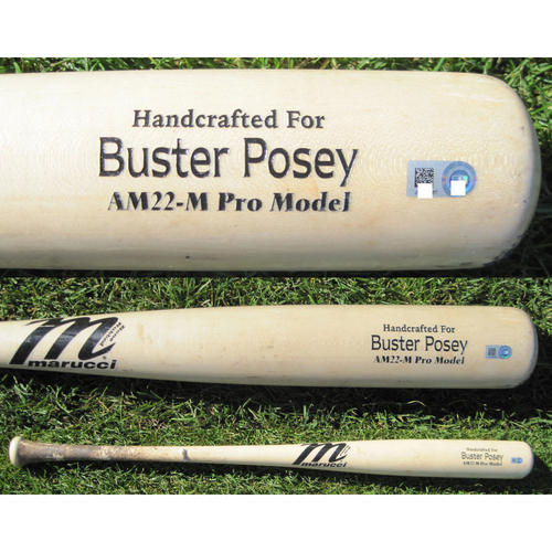 San Francisco Giants - Team Issued Broken Bat - Spring Training - Buster Posey
