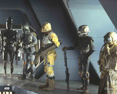 Darth Vader, Dengar, IG-88, Boba Fett, Bossk and Zuckuss