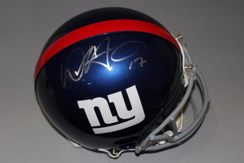 NFL - GIANTS DWAYNE HARRIS SIGNED GIANTS PROLINE HELMET