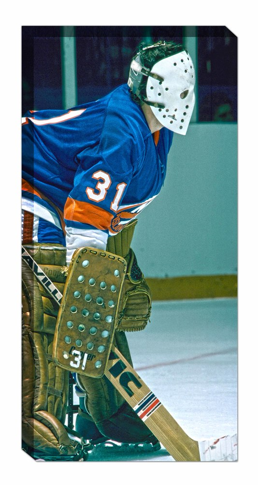 Billy Smith - Unsigned 14x28 Canvas Islanders