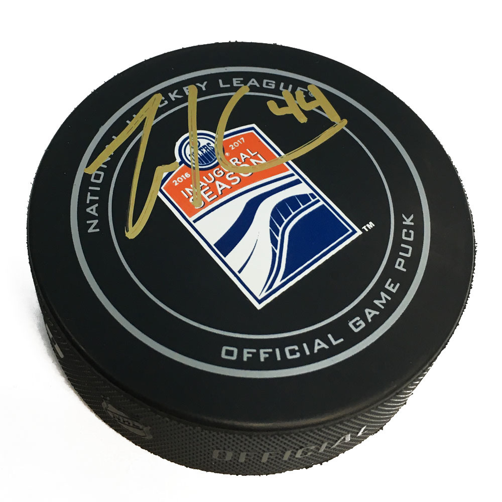 Zack Kassian Edmonton Oilers Signed Rogers Place 1st Season Offical Game Puck