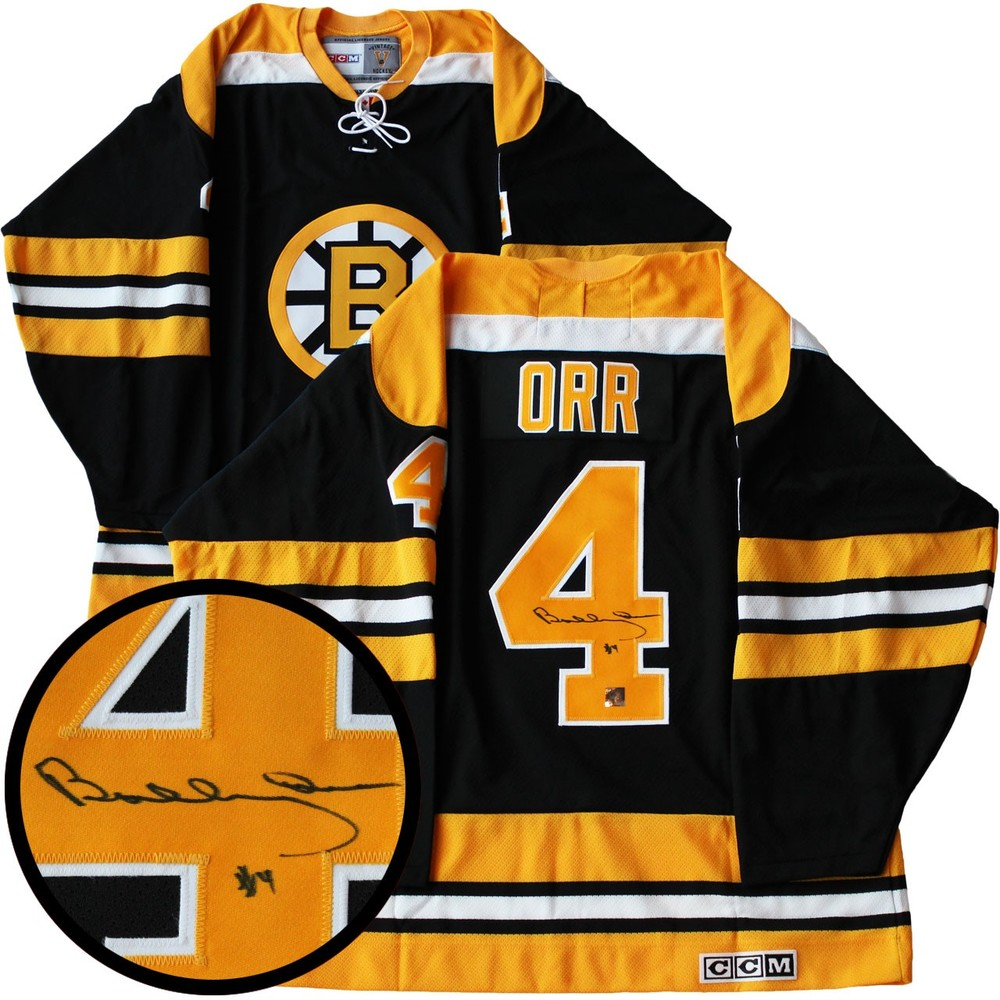 Bobby Orr - Signed Jersey Bruins Replica Dark