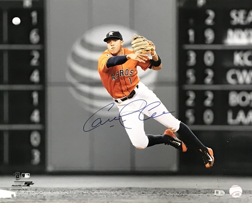 Carlos Correa Autographed 16x20 Photo (Fielding)