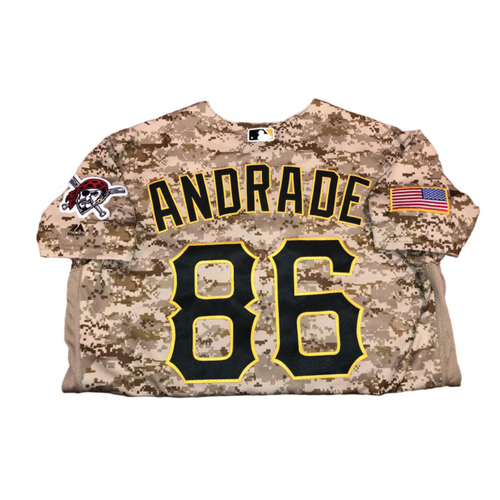 Photo of Heberto Andrade Game-Used Camo Jersey