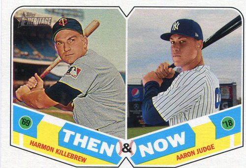 Photo of 2018 Topps Heritage Then and Now #TN5 Aaron Judge/Harmon Killebrew