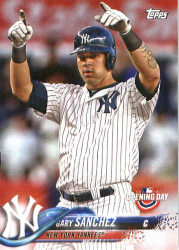 Photo of 2018 Topps Opening Day #72 Gary Sanchez
