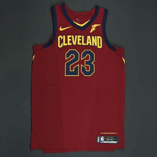LeBron James - Cleveland Cavaliers - 2018 NBA Playoffs Game-Worn ...