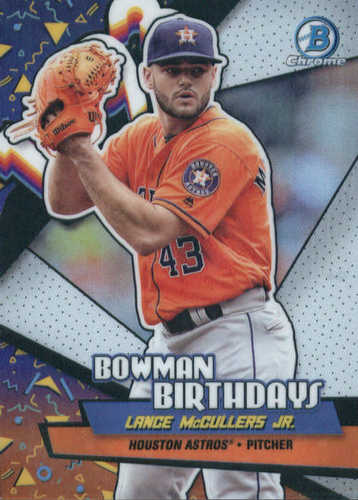 Photo of 2018 Bowman Chrome Bowman Birthdays Refractors #BBLM Lance McCullers Jr.