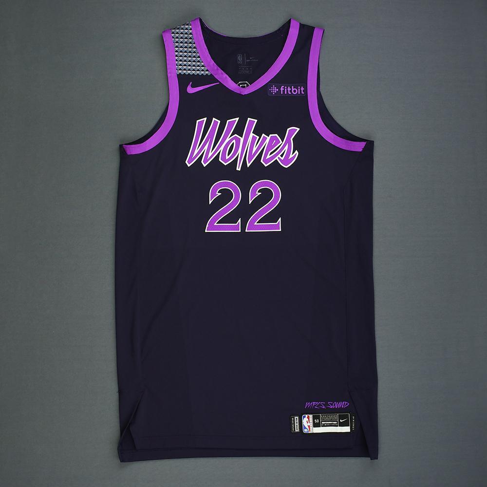 5f7c697d18b3 Andrew Wiggins - Minnesota Timberwolves - Game-Worn City Edition Jersey -  2018-19