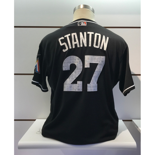 Game-Used Jersey: Giancarlo Stanton 2017 Spring Training Jersey (Size 50)