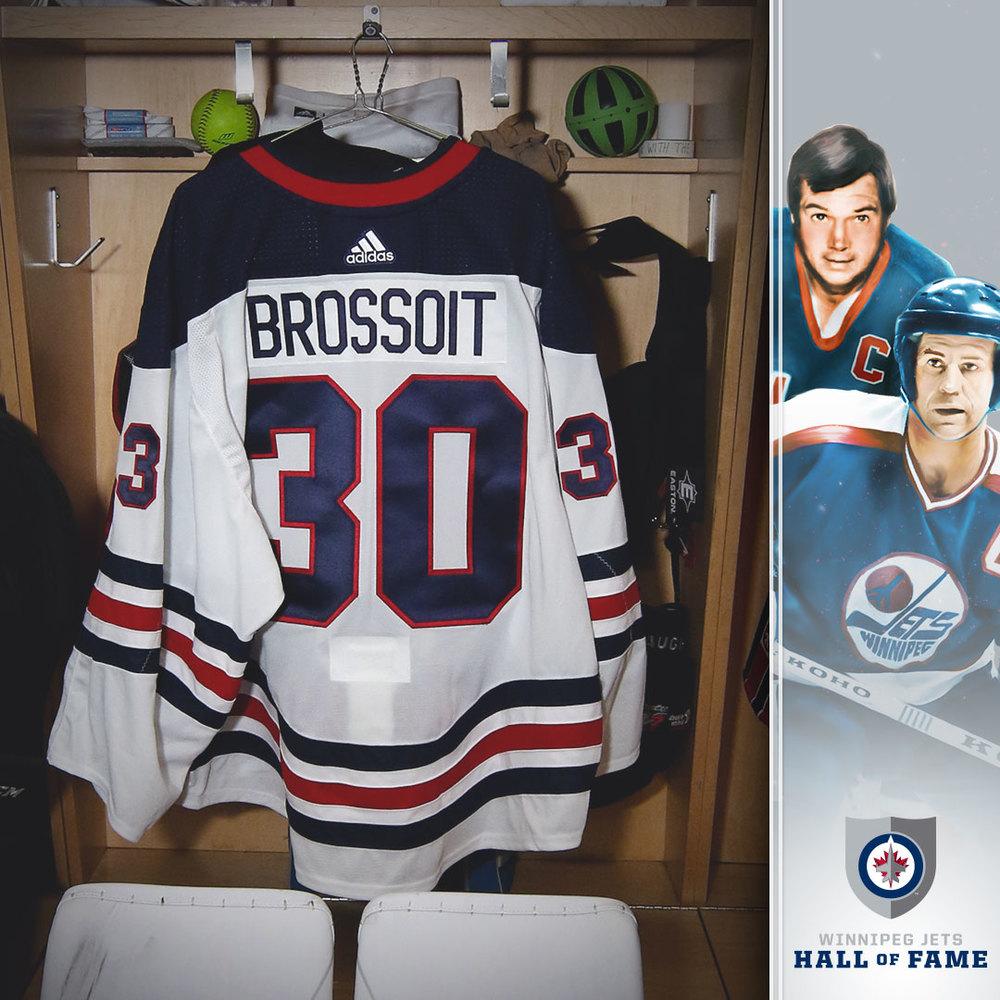 1de6f6e5945 LAURENT BROSSOIT Game Worn Heritage Jersey - NHL Auctions
