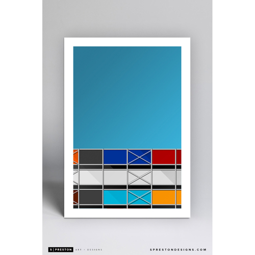 Photo of Metropolitan Stadium - Minimalist Ballpark Art Print by S. Preston  - Minnesota Twins