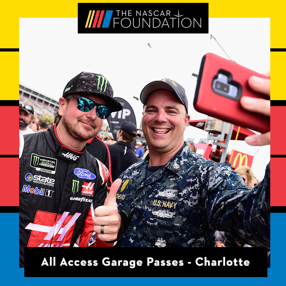 Two All Access NASCAR Garage Passes at Charlotte Motor Speedway !