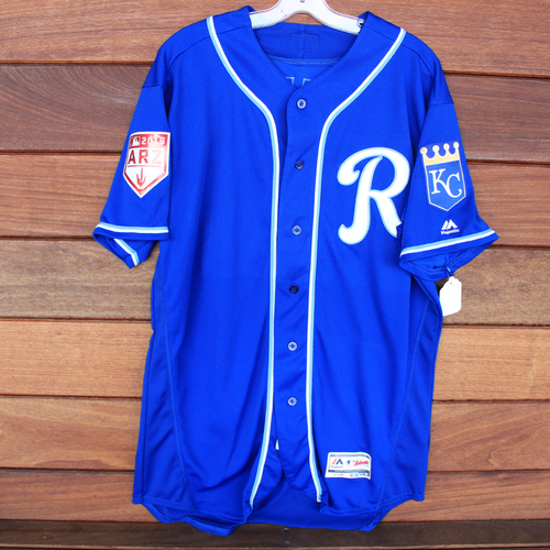 Photo of Game-Used Spring Training Jersey: Kelvin Gutierrez (Size 48 - COL @ KC - 2/25/19)