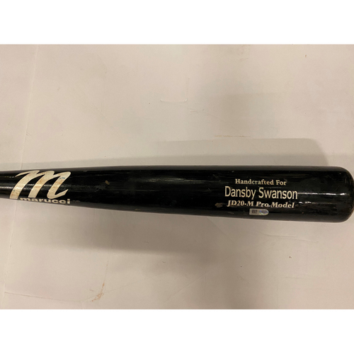 Photo of Dansby Swanson Game Used Cracked Bat - August 6, 2020
