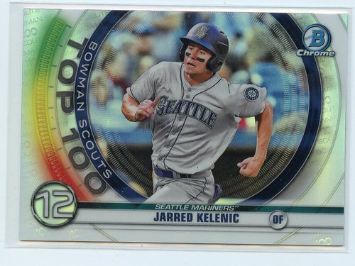 Photo of 2020 Bowman Chrome Scouts Top 100 #BTP12 Jarred Kelenic