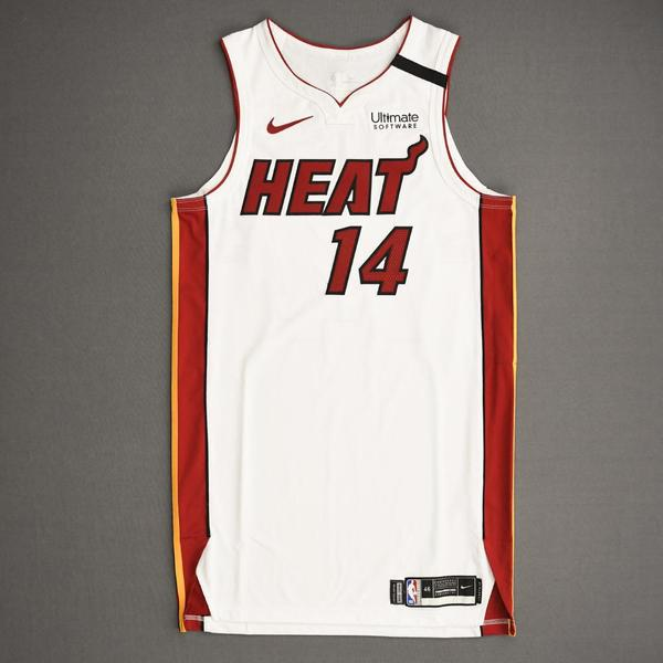 Image of Tyler Herro - Miami Heat - Game-Worn Association Edition Jersey - 2019-20 NBA Season Restart with Social Justice Message